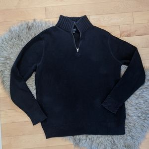 J.Crew - Cotton 1/2 zip Sweater